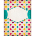 Colorful textured polka dot design with label vector | Price: 1 Credit (USD $1)