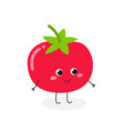 cute tomato character vector image vector image