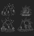 dayly and nightly desert vector image vector image