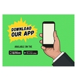 download page mobile messaging app vector image vector image