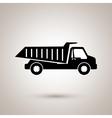 dump truck design vector image vector image