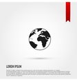 Earth Icon Flat design style Template for design vector image vector image