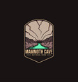 emblem patch logo mammoth cave national park vector image vector image