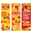 fast food burgers snacks and drinks vector image vector image