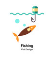 fishing flat icon vector image vector image