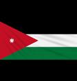 flag jordan swaying in wind realistic vector image