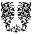 floral bw vector image vector image