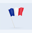 france flag on flagpole waving in wind vector image