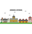 germany potsdam city skyline architecture vector image vector image