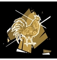 Golden Rooster Symbol 2017 Polygon style vector image