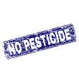grunge no pesticide framed rounded rectangle stamp vector image vector image