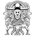hand drawn sad mask man vector image vector image