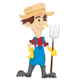 Happy Farmer vector image