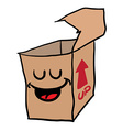 happy freehand drawn cartoon empty box vector image vector image