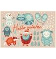 Hello winter card in cartoon style vector image vector image