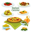 Italian cuisine dishes icon for menu design vector image vector image
