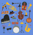 jazz musical instruments tools piano and vector image