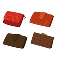 Leather wallets set vector | Price: 1 Credit (USD $1)