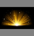 light effect shining golden bright light vector image