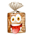 Loaf of bread with happy face vector image vector image