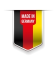 Made in Germany flag ribbon vector image
