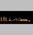 malaga light streak skyline vector image vector image