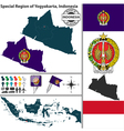 Map of Yogyakarta vector image vector image