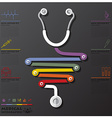 Medical And Health Connection Timeline Business vector image vector image