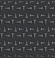metal texture with penises iron seamless pattern vector image