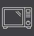microwave oven line icon household and appliance vector image vector image