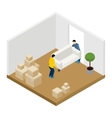 Moving In And Out vector image