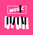 music symbol on pink background vector image vector image