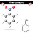 Nitrobenzene structure vector image vector image