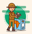 people safari travel vector image