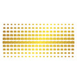 photo camera gold halftone array vector image vector image