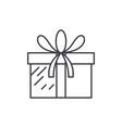 present box line icon concept present box vector image vector image