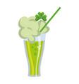 refreshness clover juice cartoon vector image vector image