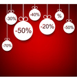 Sale background with christmas balls vector image vector image