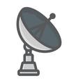 satellite dish colorful line icon antenna vector image