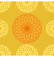 Seamless pattern Orange juice background Round vector image vector image