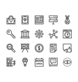 Seo and Marketing Icons 9 vector image vector image