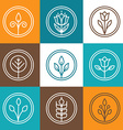 set nature badges vector image vector image