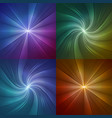 set of abstract backgrounds with lines from the vector image vector image