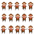 set of flat cowboy icons vector image vector image