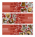 set of horizontal banners about theater vector image vector image