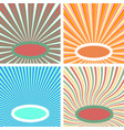 set sun rays pop art blanks bright warm colors vector image vector image