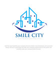 smile city logo designs vector image