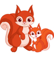 Squirrel and baby vector image