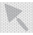 stencil brick wall vector image vector image