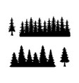 trees silhouette forest vector image vector image